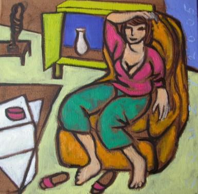Huiselijke genoegens 12 30x30cm Annemieke Couzy 2005