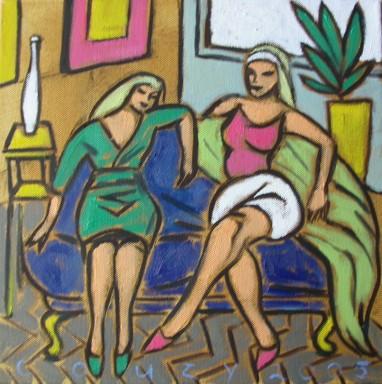 Huiselijke genoegens 15 30x30cm Annemieke Couzy 2005
