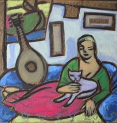 Huiselijke genoegens 16 30x30cm Annemieke Couzy 2005