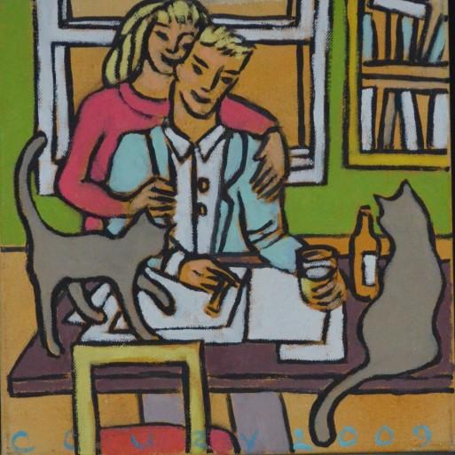 Huiselijke genoegens 17 30x30cm Annemieke Couzy 2009