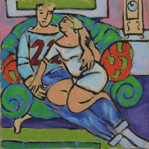 Huiselijke genoegens 18 30x30cm Annemieke Couzy 2007
