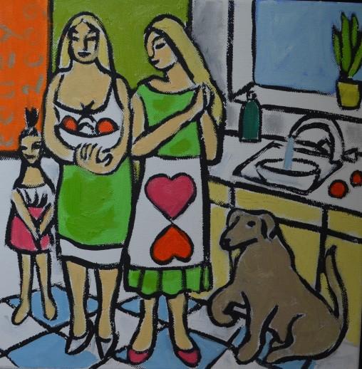 Huiselijke genoegens 19 30x30cm Annemieke Couzy 2009