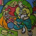 Huiselijke genoegens 20 30x30cm Annemieke Couzy 2009