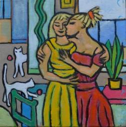 Huiselijke genoegens 21 30x30cm Annemieke Couzy 2000