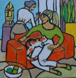 Huiselijke genoegens 23 30x30cm Annemieke Couzy 2009
