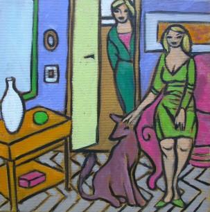 Huiselijke genoegens 3 30x30cm Annemieke Couzy