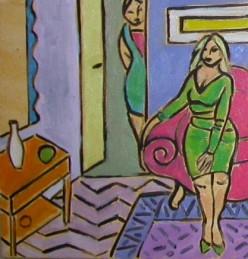 Huiselijke genoegens 8 30x30cm Annemieke Couzy