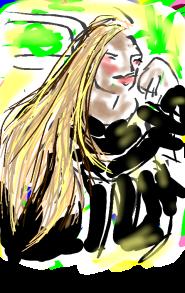 Lang haar tekening Annemieke Couzy 2017